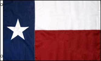 Texas Embroidered Flag 4x6ft