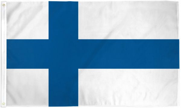 Finland 3x5ft Poly Flag
