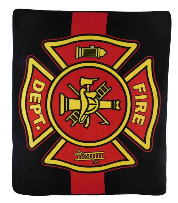 Fire Department (Red Line) 50x60in Blanket Polar Fleece