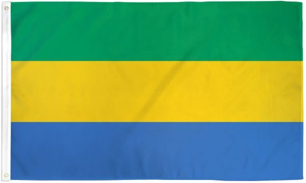 Gabon 3x5ft Poly Flag