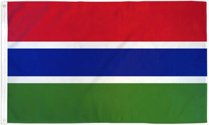 Gambia 3x5ft Poly Flag