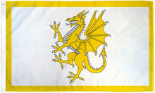 Load image into Gallery viewer, Golden Dragon (Welsh) 3x5ft Poly Flag
