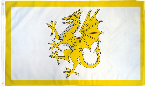Golden Dragon (Welsh) 3x5ft Poly Flag
