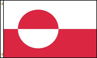 Greenland 3x5ft Poly Flag
