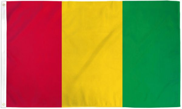 Guinea 3x5ft Poly Flag