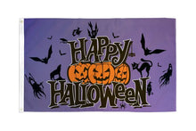 Load image into Gallery viewer, Happy Halloween (Purple) Flag 3x5 Poly