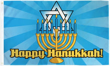 Load image into Gallery viewer, Happy Hanukkah Flag 3x5 Poly