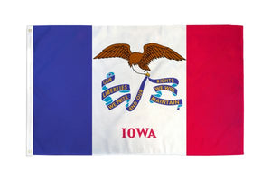 Iowa 3x5ft Poly Flag
