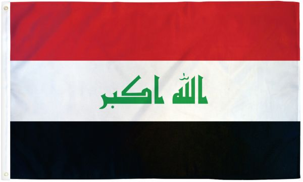 Iraq 3x5ft Poly Flag