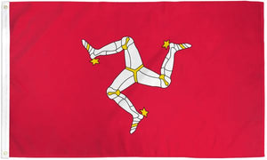 Isle of Man 3x5ft Poly Flag