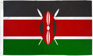 Kenya 3x5ft Poly Flag