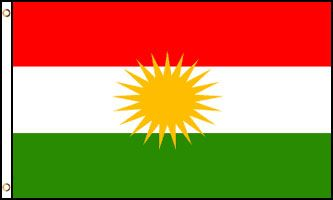 Kurdistan 3x5ft Poly Flag
