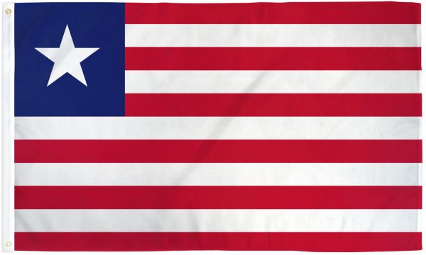 Liberia 3x5ft Poly Flag