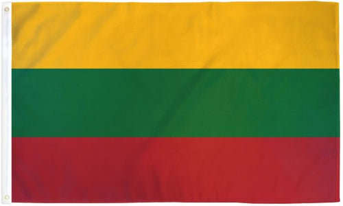 Lithuania 3x5ft Poly Flag
