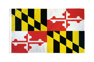 Maryland 3x5ft Poly Flag