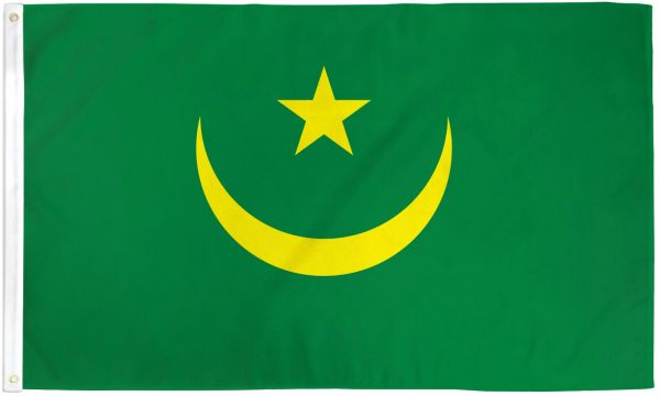 Mauritania 3x5ft Poly Flag