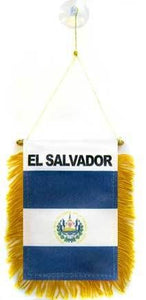 El Salvador Car Flag Mini Banner