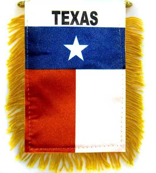 Texas Car Flag Mini Banner