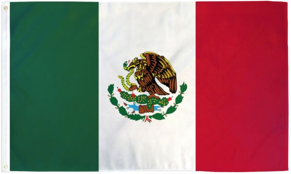 Mexico 3x5ft Poly Flag