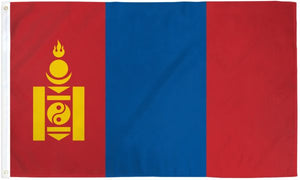 Mongolia 3x5ft Poly Flag