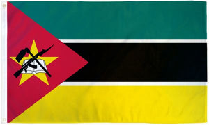 Mozambique 3x5ft Poly Flag