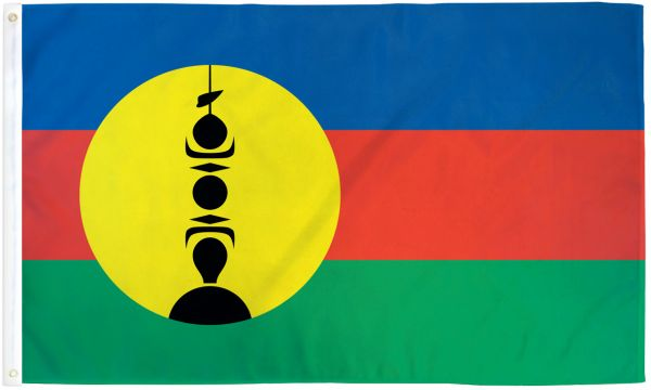 New Caledonia 3x5ft Poly Flag