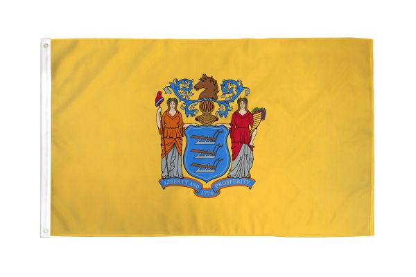 New Jersey 3x5ft Poly Flag