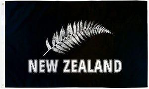 New Zealand (Silver Fern) 3x5ft Poly Flag