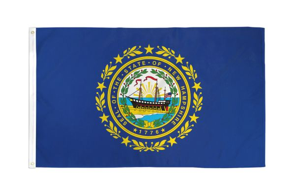 New Hampshire 3x5ft Poly Flag