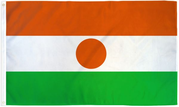 Niger 3x5ft Poly Flag