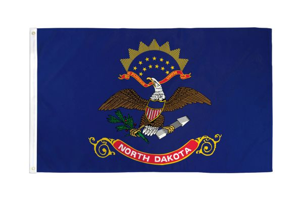 North Dakota 3x5ft Poly Flag