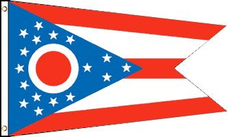 Ohio 3x5ft Poly Flag