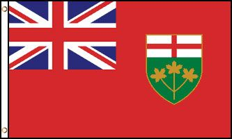 Ontario 3x5ft Poly Flag