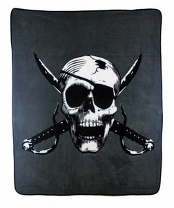 Cutlass Crossbones 50x60in Blanket Polar Fleece