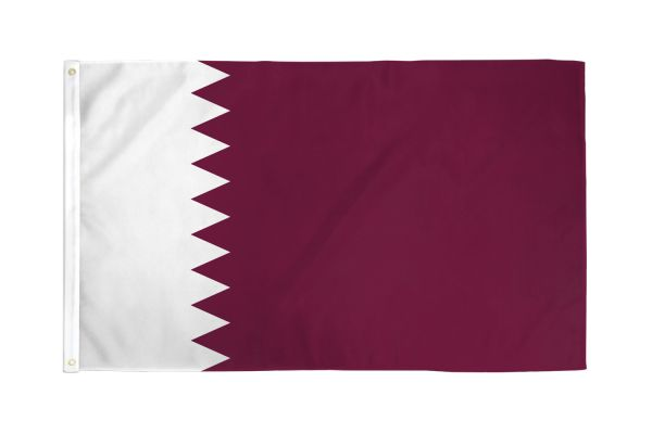 Qatar 3x5ft Poly Flag