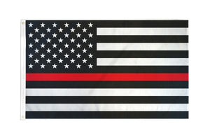 USA Thin Red Line 3x5ft Poly Flag