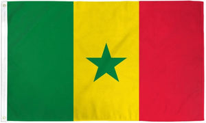 Senegal 3x5ft Poly Flag