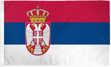 Load image into Gallery viewer, Serbia 3x5ft Poly Flag