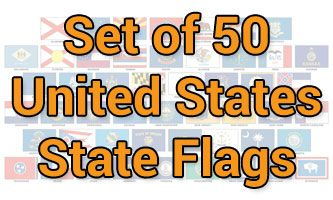 Set of 50 State Flags (3x5ft)