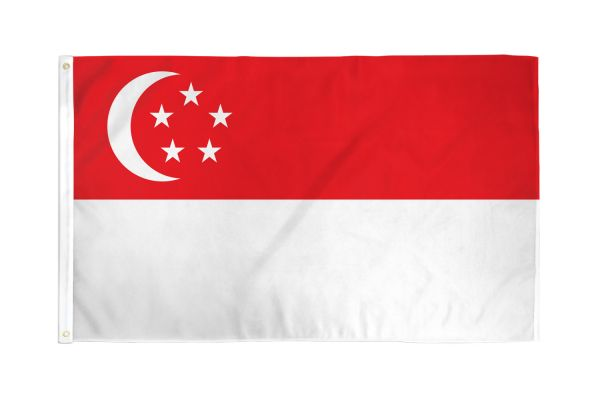 Singapore 3x5ft Poly Flag