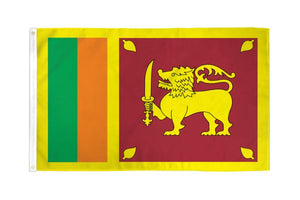 Sri Lanka 3x5ft Poly Flag