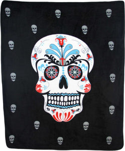 Sugar Skull 50x60in Blanket Polar Fleece