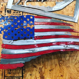USA Tattered Flag