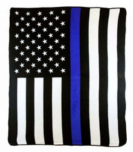 Load image into Gallery viewer, Thin Blue Line 50x60in Blanket Polar Fleece