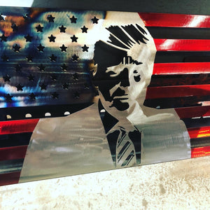 USA Trump Metal Flag