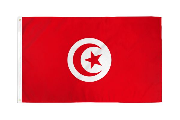 Tunisia 3x5ft Poly Flag