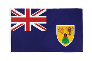 Turks & Caicos 3x5ft Poly Flag