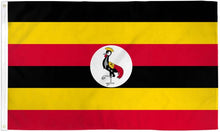 Load image into Gallery viewer, Uganda 3x5ft Poly Flag