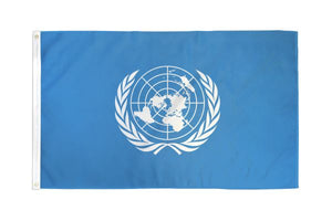 United Nations 3x5ft Poly Flag