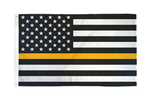 USA Thin Gold Line 3x5ft Poly Flag